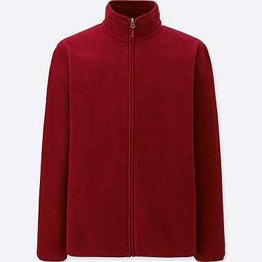 men fleece long-sleeve full-zip jacket