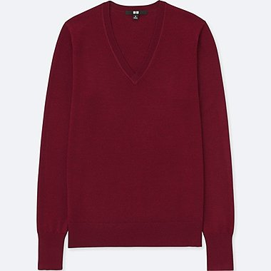 Women's Extra Fine Merino Wool Jumpers | UNIQLO UK