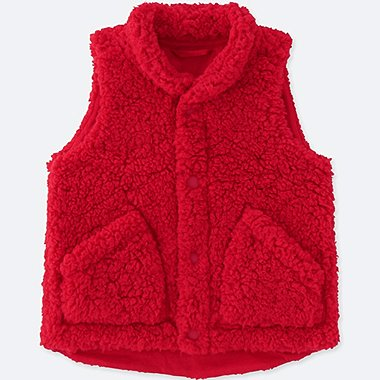 TODDLER FLUFFY YARN VEST, RED, medium