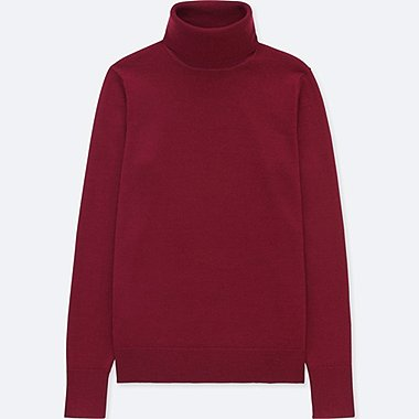 WOMEN EXTRA FINE MERINO TURTLE NECK SWEATER