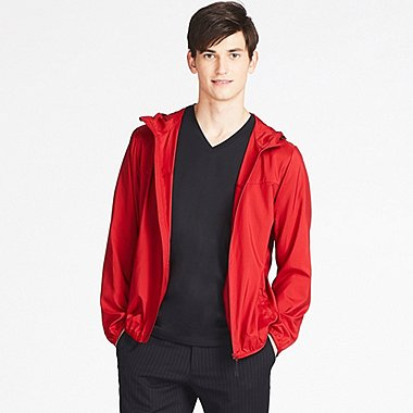 MEN POCKETABLE PARKA, RED, medium