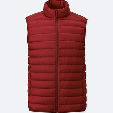 Ultra Light Down Vest, RED, medium