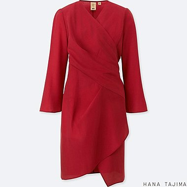 WOMEN HANA TAJIMA WRAP LONG SLEEVE TUNIC