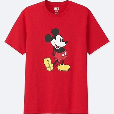 MICKEY STANDS SHORT-SLEEVE GRAPHIC T-SHIRT, RED, medium