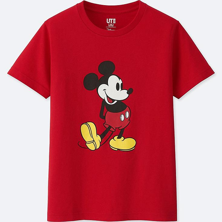 KIDS MICKEY STANDS UT (SHORT-SLEEVE GRAPHIC T-SHIRT), RED, large