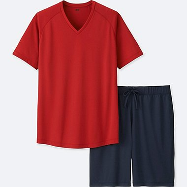MEN AIRism LOUNGE SET, RED, medium