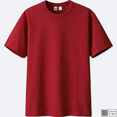 MEN U CREWNECK SHORT-SLEEVE T-SHIRT, RED, medium