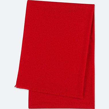 CASHMERE BIG STOLE, RED, medium