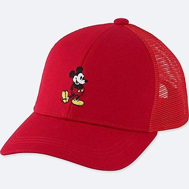 KIDS MICKEY STANDS MESH CAP, RED, medium
