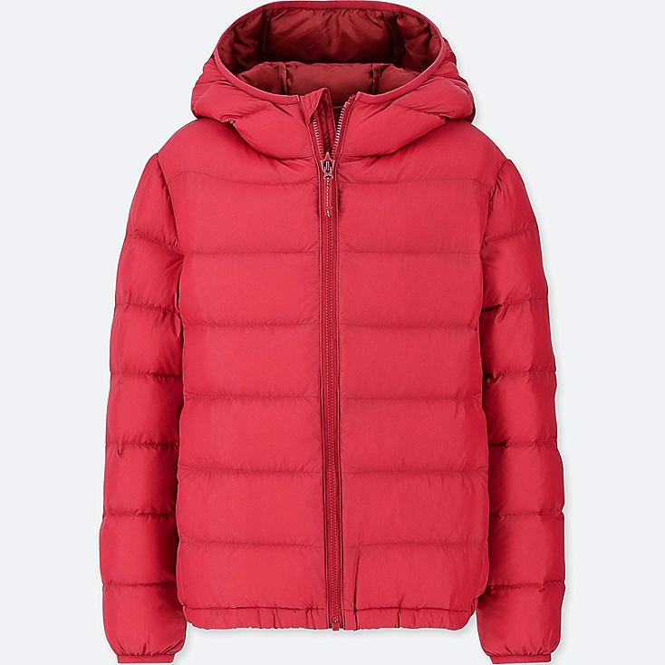 BOYS LIGHT WARM PADDED PARKA, RED, large