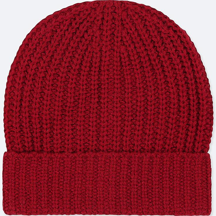 KIDS HEATTECH KNITTED CAP, RED, large