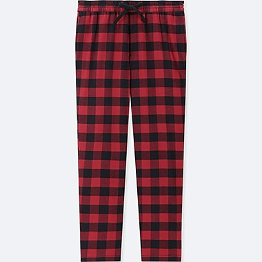 MEN FLANNEL EASY PANTS, RED, medium