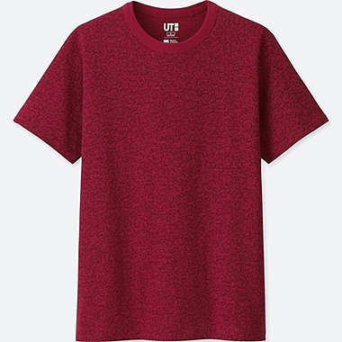 MEN KATAGAMI SHORT-SLEEVE GRAPHIC T-SHIRT, RED, medium