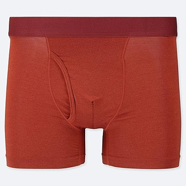 MEN AIRism BOXER BRIEFS, RED, medium
