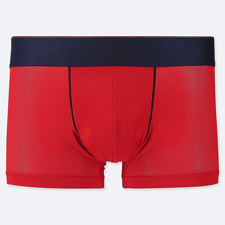 MEN AIRism MESH LOW-RISE BOXER BRIEFS, RED, large