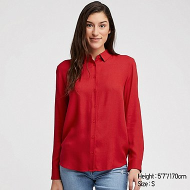 WOMEN RAYON LONG SLEEVED BLOUSE