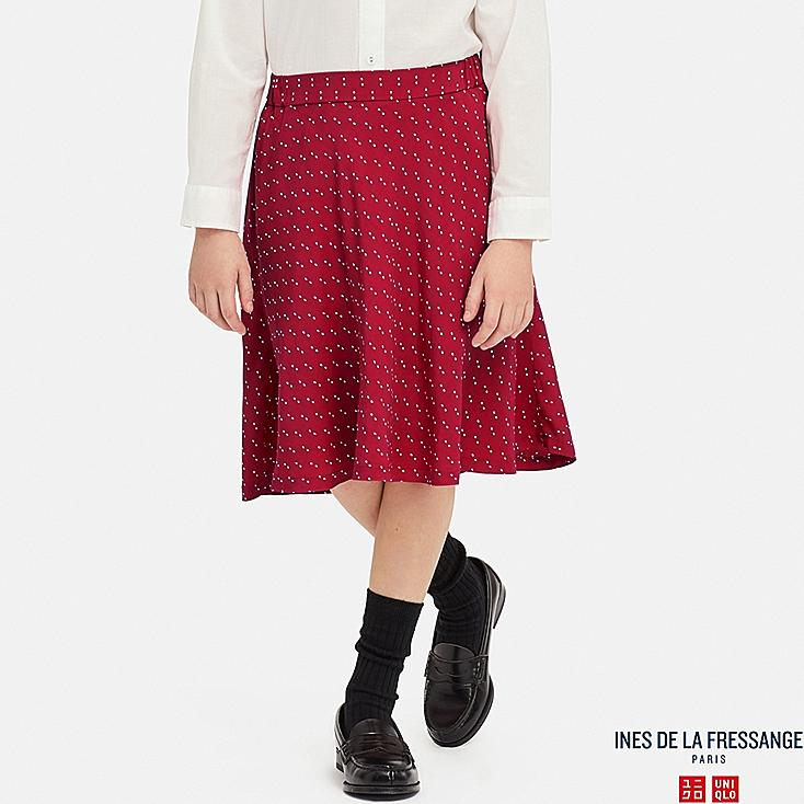 GIRLS GEORGETTE SKIRT (INES DE LA FRESSANGE), RED, large