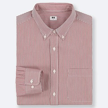 MEN EXTRA FINE COTTON BROADCLOTH STRIPED SHIRT (BUTTON-DOWN COLLAR)