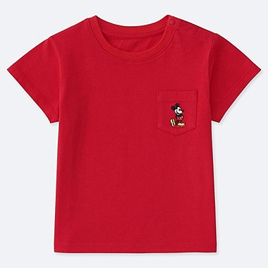 BABIES TODDLER MICKEY STANDS POCKET T-SHIRT