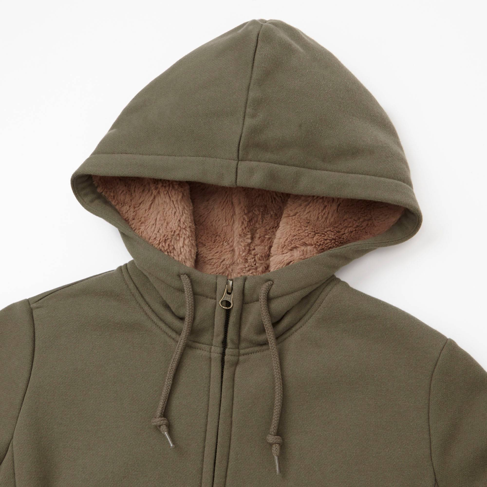 WOMEN FLEECE-LINED FULL-ZIP HOODIE | UNIQLO US