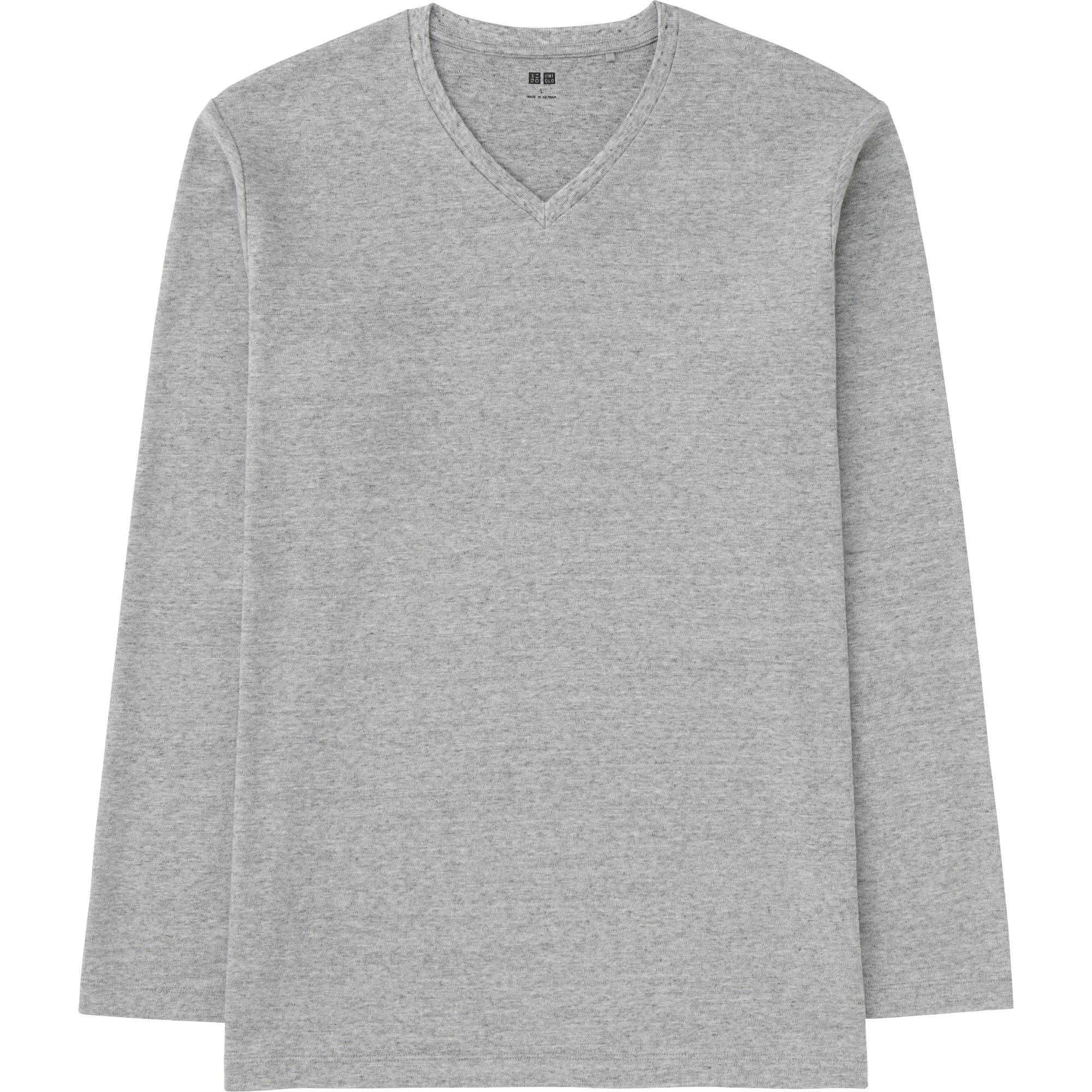MEN SOFT TOUCH V-NECK LONG SLEEVE T-SHIRT | UNIQLO US