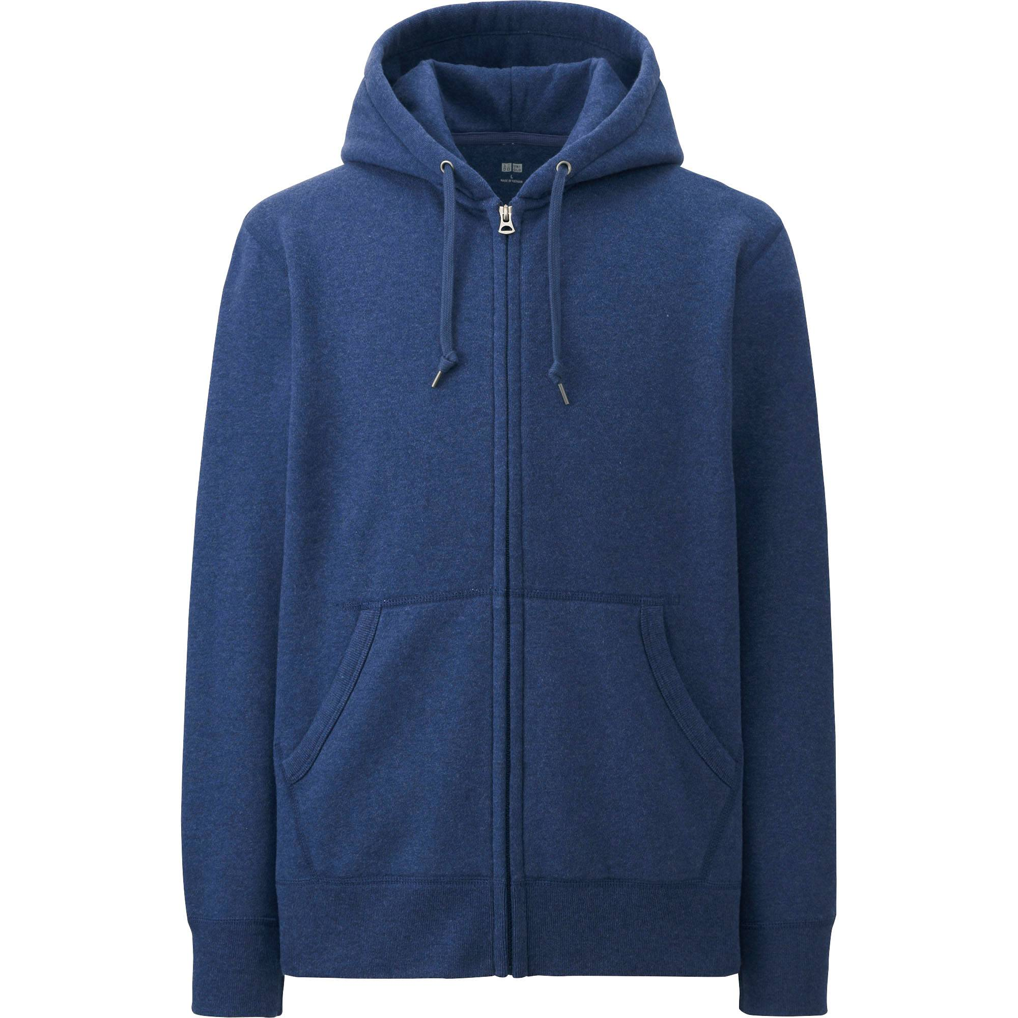 MEN SWEAT LONG SLEEVE FULL-ZIP HOODIE | UNIQLO US