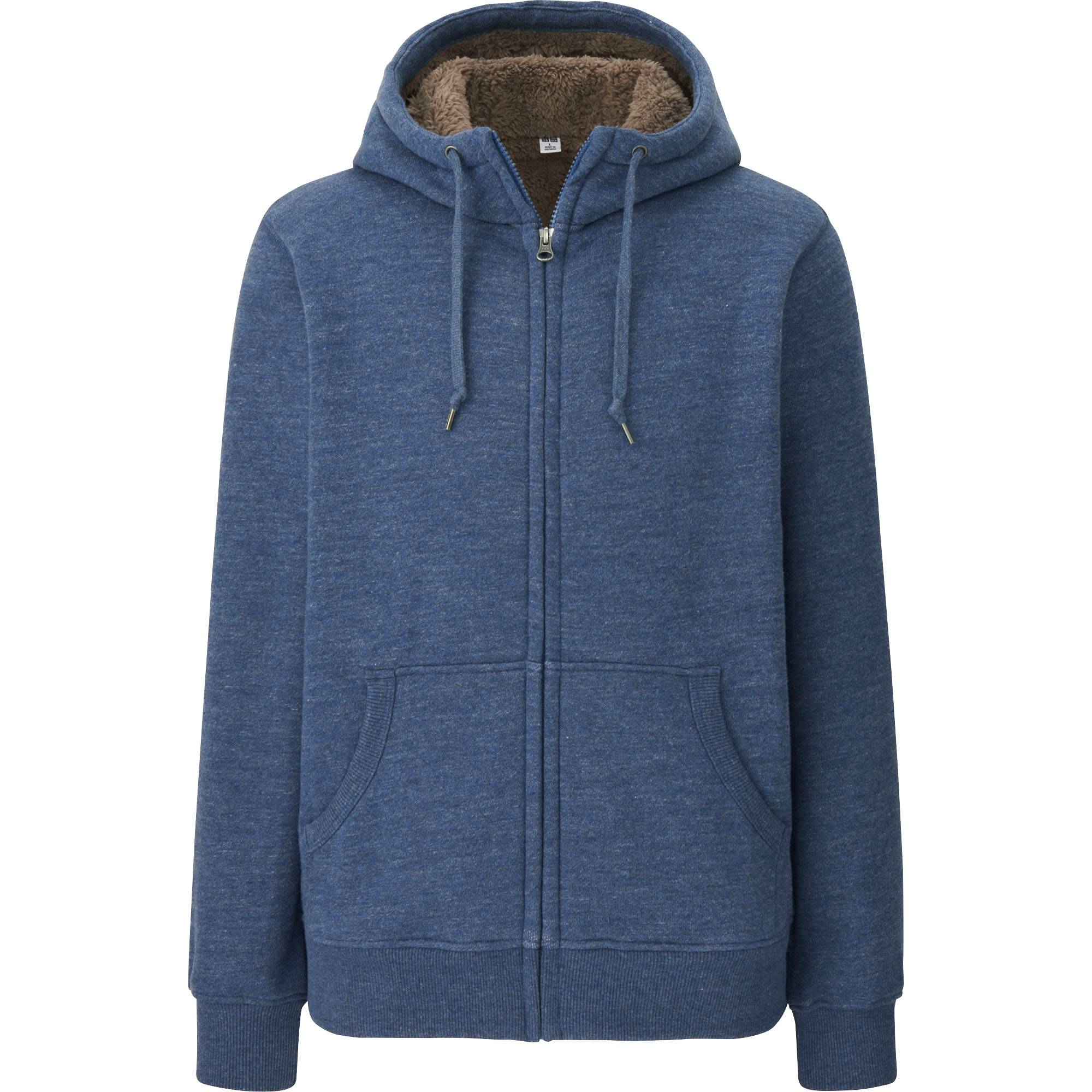 MEN PILE-LINED SWEAT LONG SLEEVE FULL-ZIP HOODIE | UNIQLO US