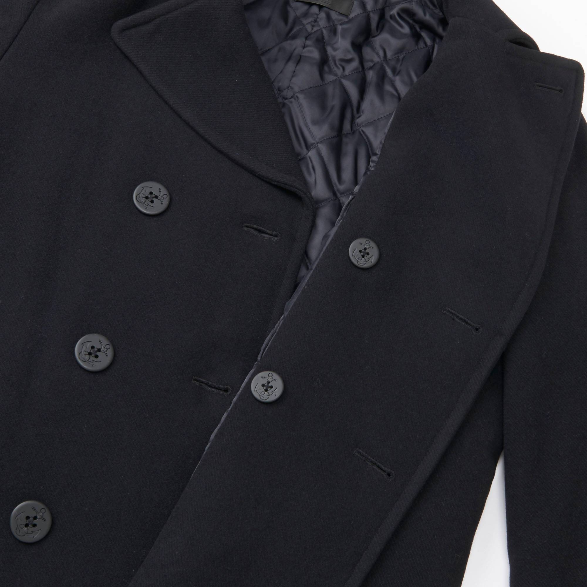 MEN WOOL BLEND PEA COAT | UNIQLO US
