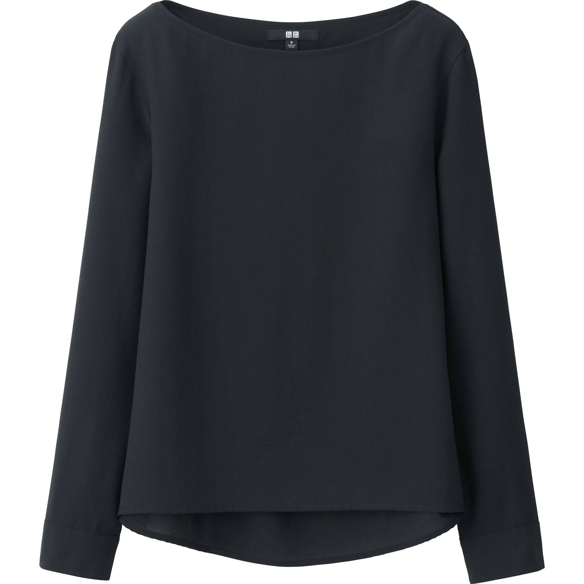 WOMEN RAYON LONG SLEEVE T BLOUSE | UNIQLO US