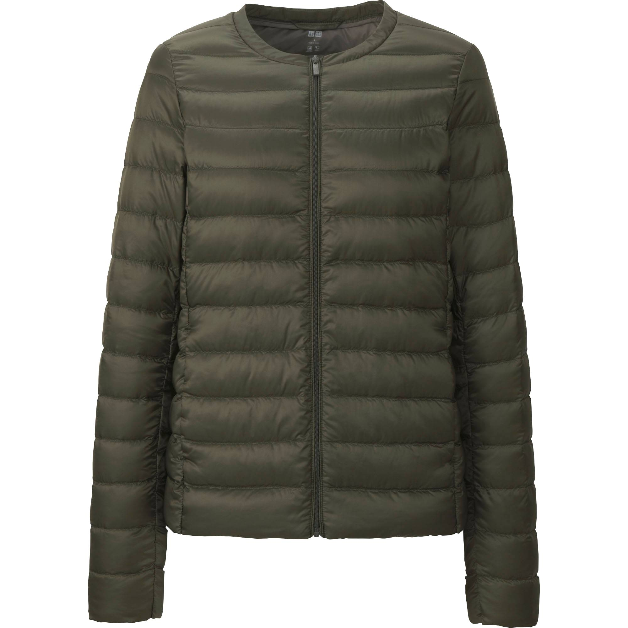Leather jacket uniqlo - Women Ultra Light Down Compact Jacket Olive Small