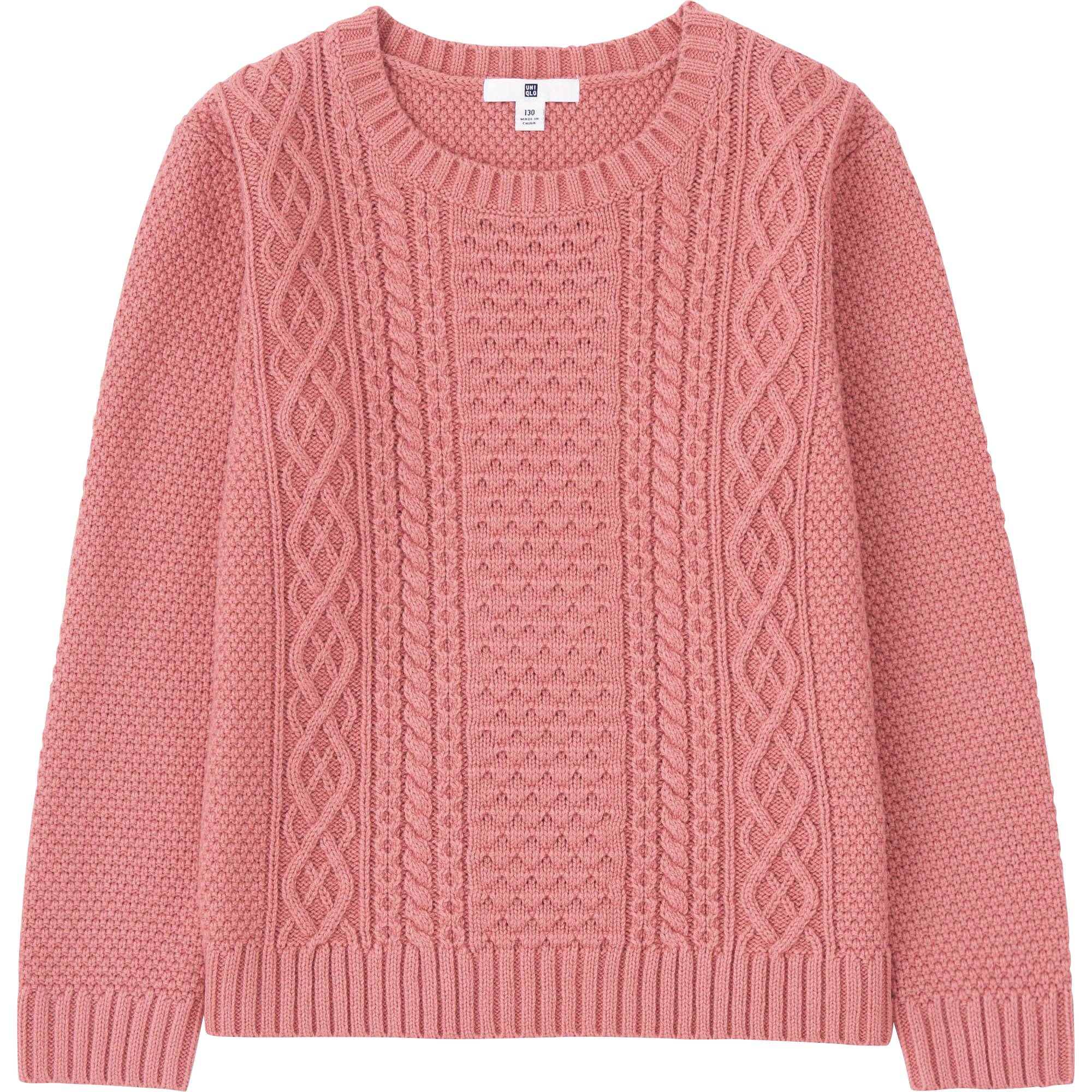 KIDS CREWNECK LONG SLEEVE SWEATER | UNIQLO US