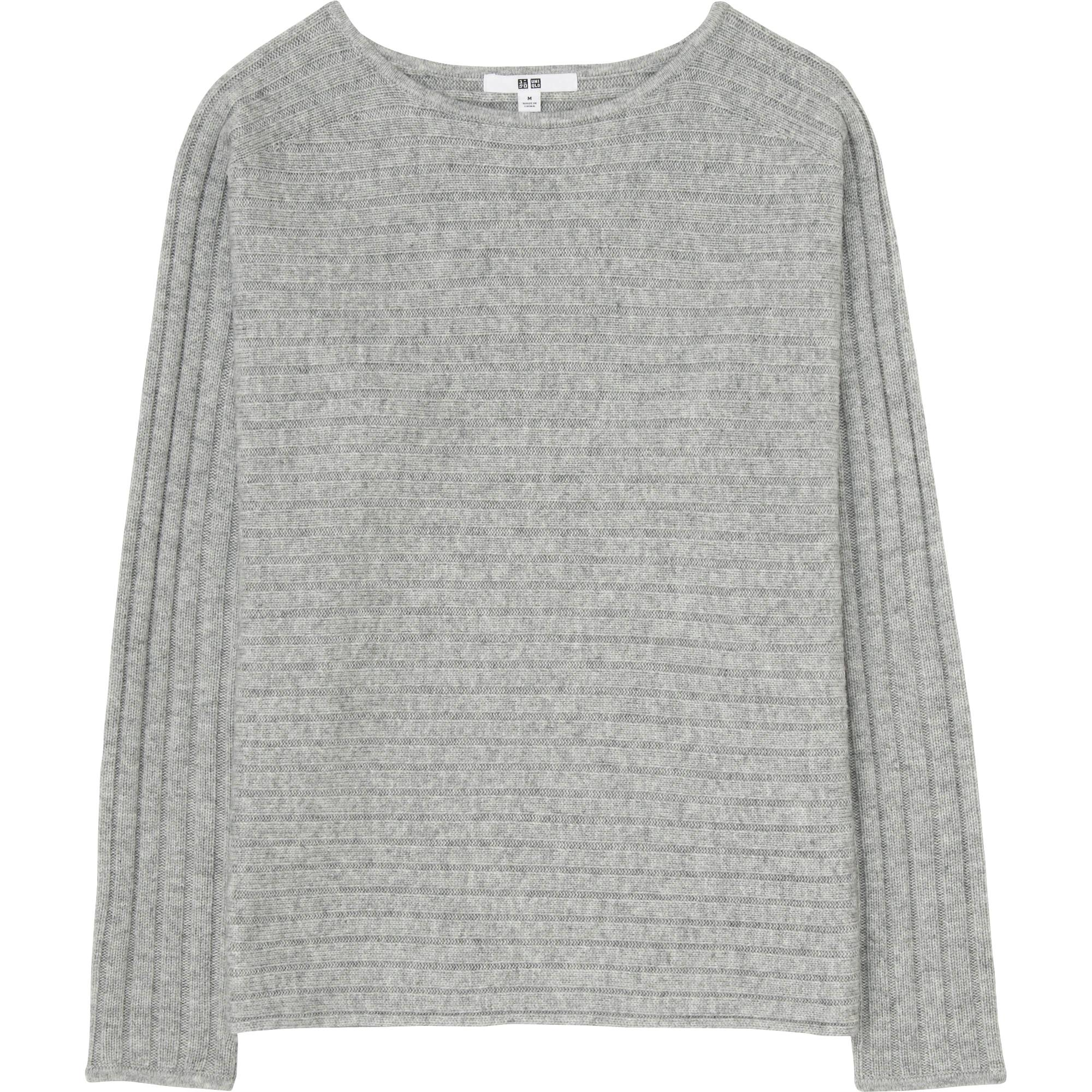 WOMEN CASHMERE BLEND BOAT NECK SWEATER | UNIQLO US