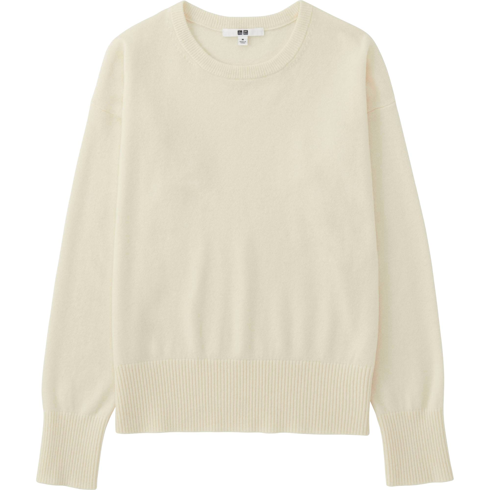 Women Cashmere Crew Neck Sweater | UNIQLO US