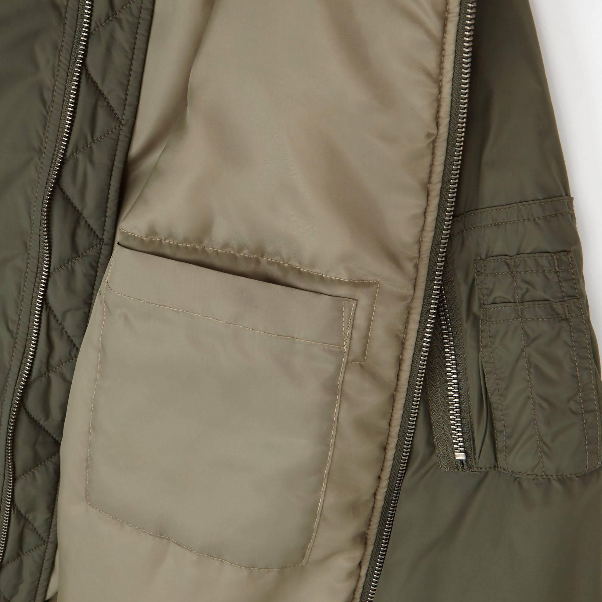 Leather jacket uniqlo - Men Ma 1 Bomber Jacket Olive Small