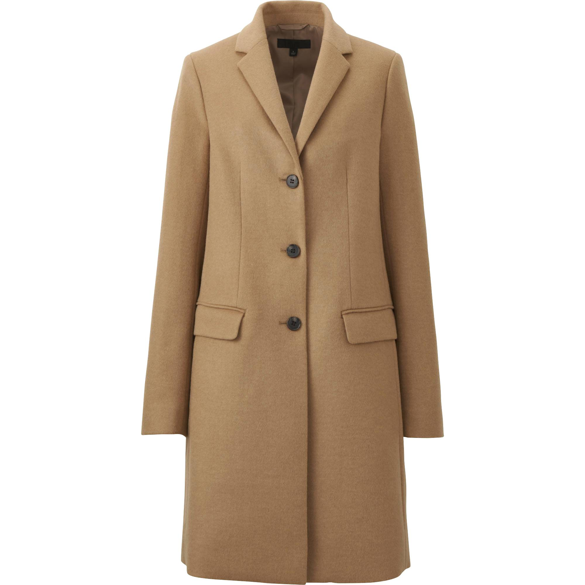WOMEN WOOL CASHMERE CHESTER COAT | UNIQLO US