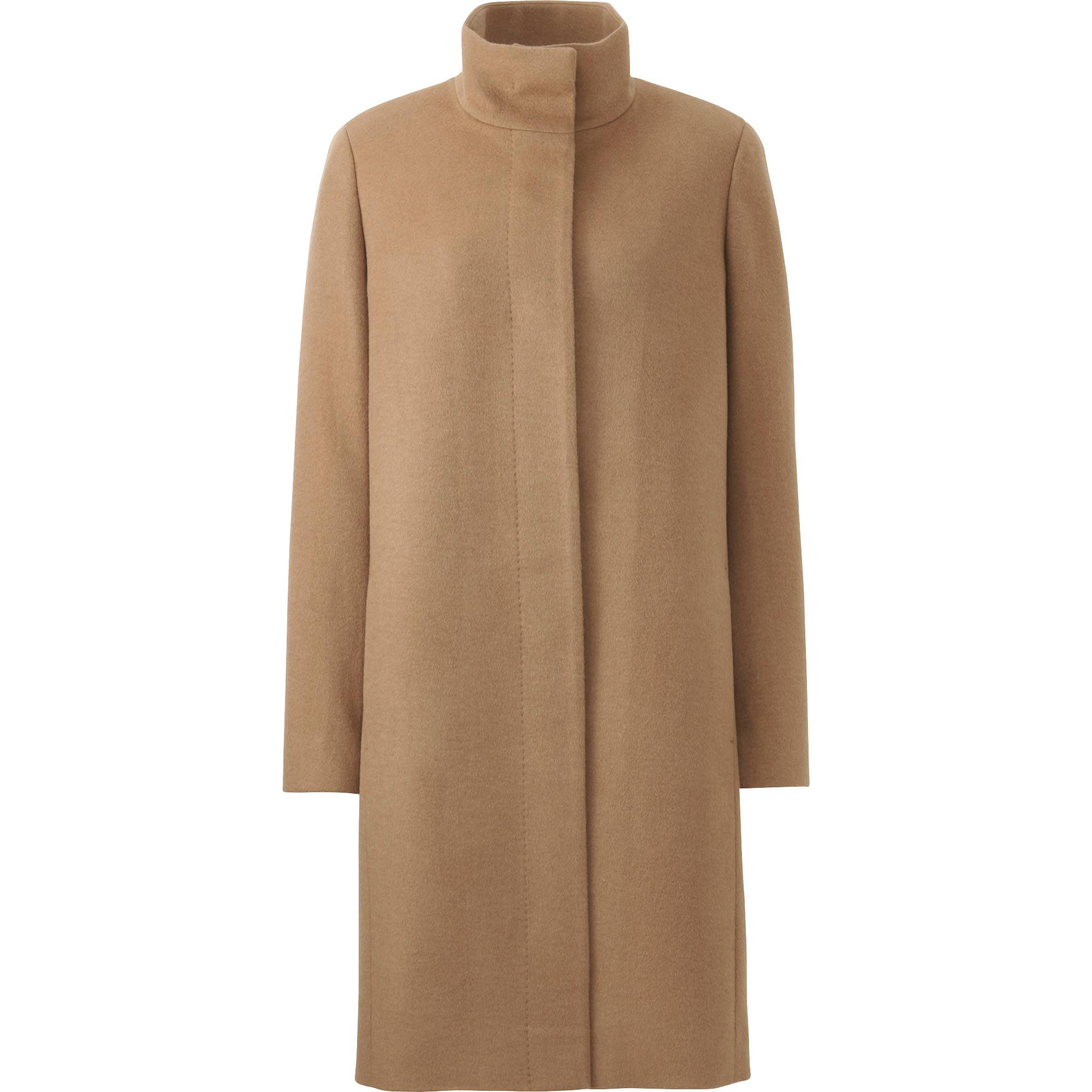 WOMEN CASHMERE BLENDED STAND COLLAR COAT | UNIQLO US