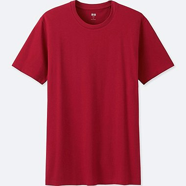 Mens Supima® Cotton Crew Neck T-Shirt, RED, medium