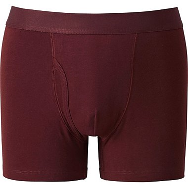 MEN SUPIMA COTTON BOXER BRIEFS, RED, medium