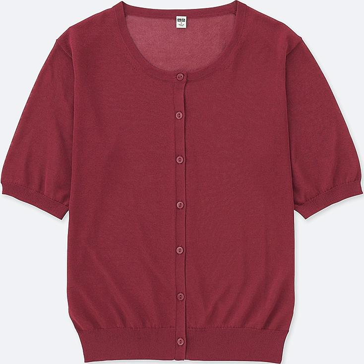 WOMEN LIGHT CREWNECK SHORT-SLEEVE CARDIGAN | UNIQLO US