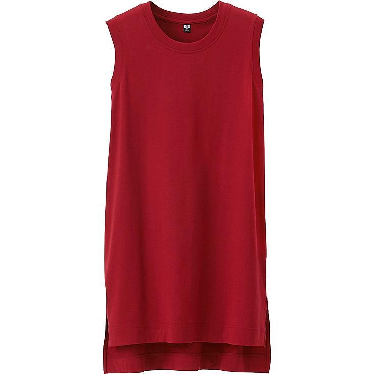 women sleeveless long t shirt uniqlo us