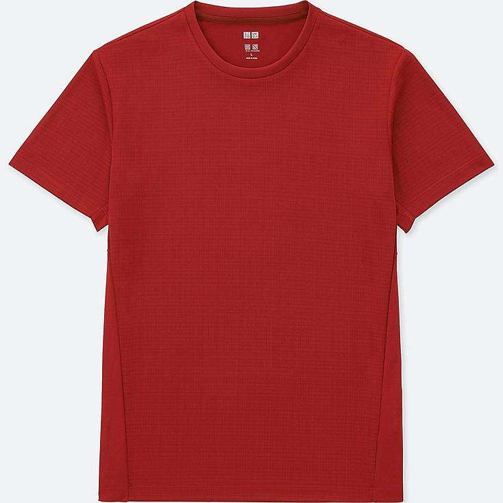 MEN DRY-EX SHORT SLEEVE CREW NECK T-SHIRT, RED, large