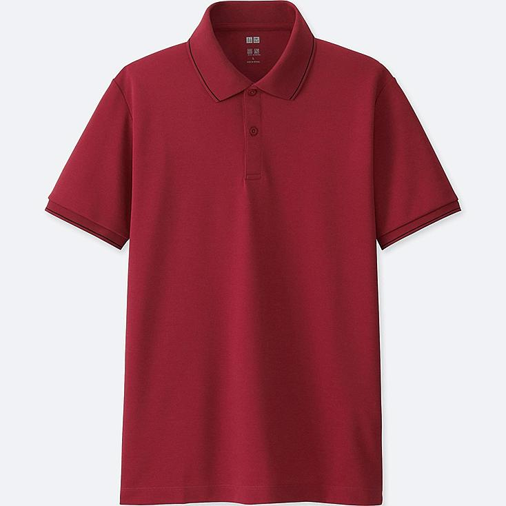 MEN DRY EX SHORT SLEEVE POLO SHIRT, RED, large