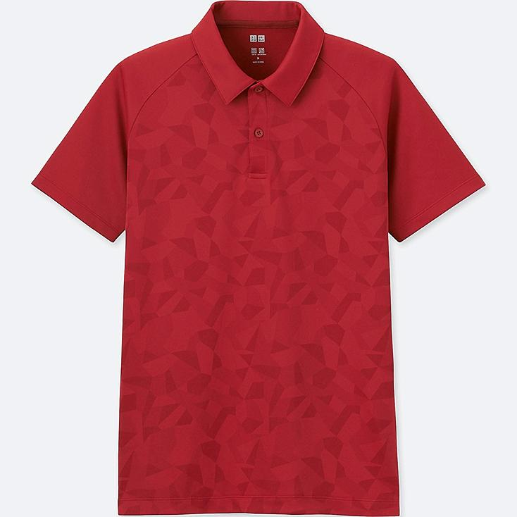 MEN DRY-EX SHORT-SLEEVE POLO SHIRT, RED, large