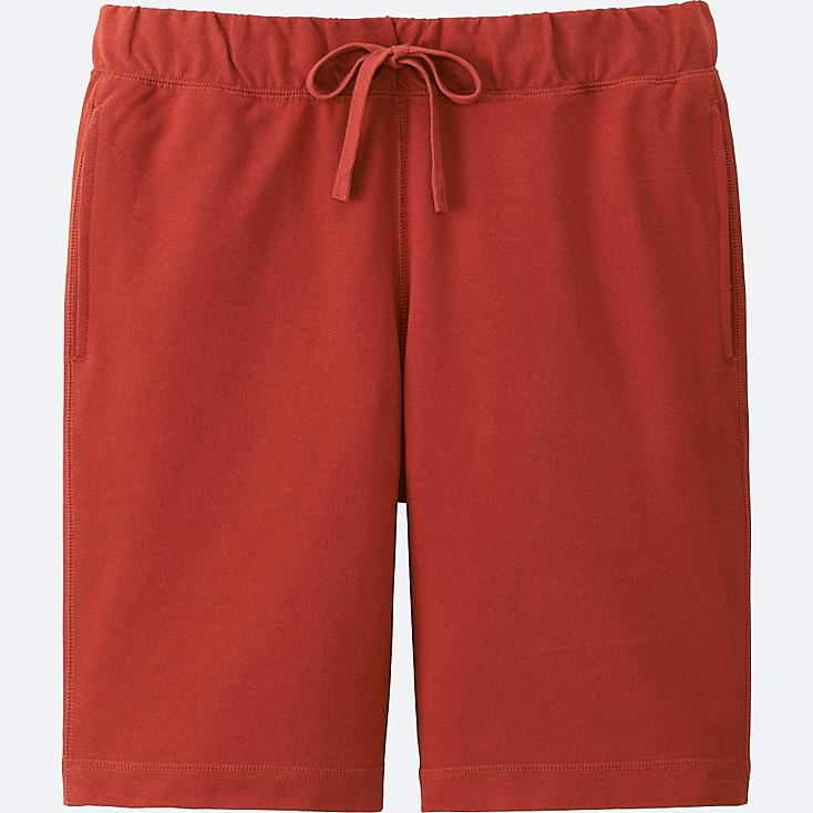MEN COTTON EASY SHORTS, RED, large