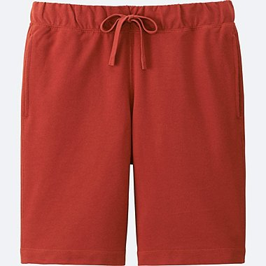 MEN COTTON EASY SHORTS, RED, medium