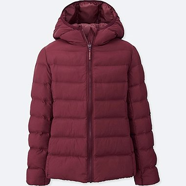 GIRLS LIGHT WARM PADDED PARKA, RED, medium