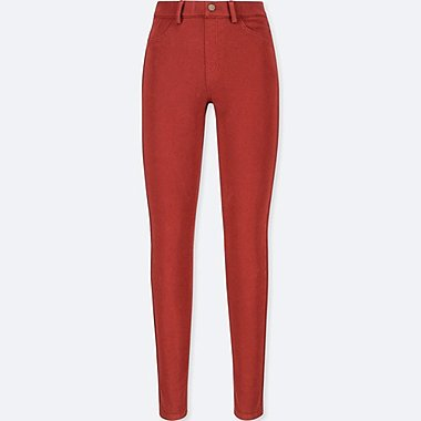 WOMEN LEGGINGS PANTS, RED, medium
