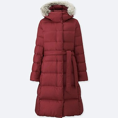WOMEN LIGHT WEIGHT DOWN HOODED COAT