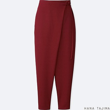 WOMEN HANA TAJIMA WRAP ANKLE LENGTH TROUSERS