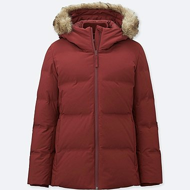WOMEN SEAMLESS DOWN JACKET, RED, medium